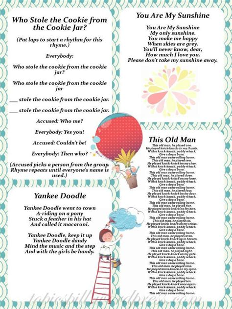 yankee doodle rhyme free 17 best images about fingerplays poems songs on