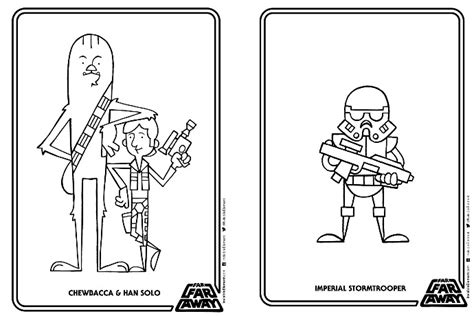 A free printable Star Wars coloring book