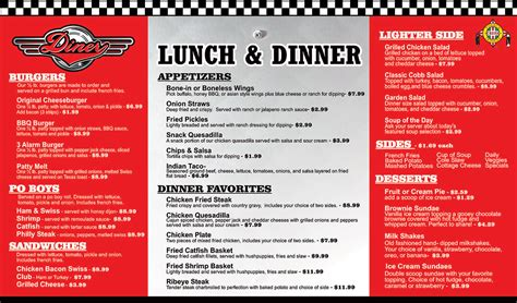 breakfast lunch and dinner menu template creek travel plaza photos diner
