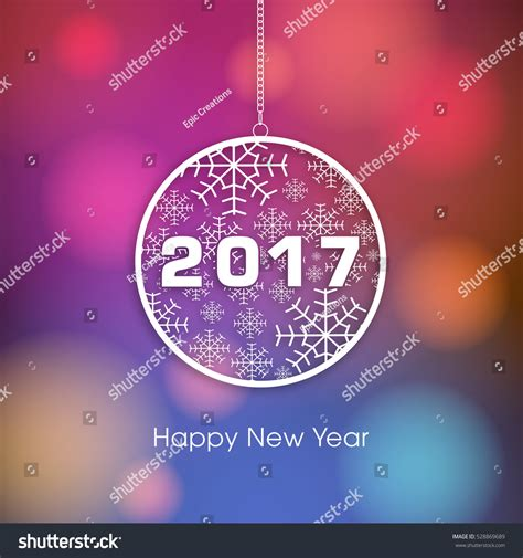 happy new year 2017 text happy new year 2017 text design stock vector 528869689