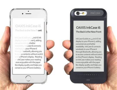 oaxis inkcase i6 iphone with e ink display for iphone 6 6s