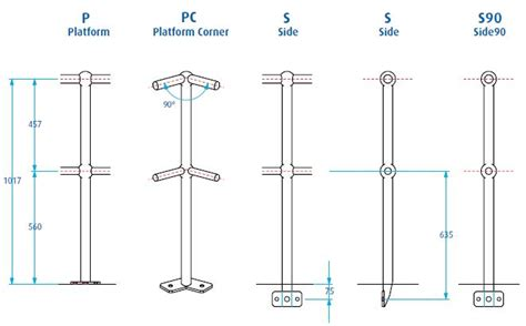 banister components handrail stanchion components