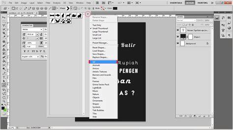 tutorial membuat typography photoshop cara membuat text typography keren dengan photoshop cs5