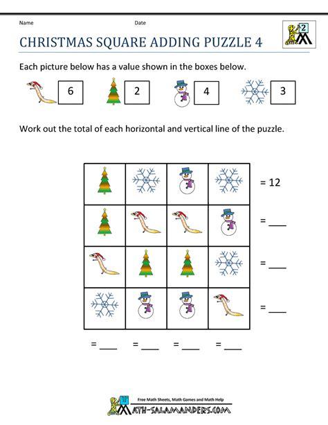 maths challenges worksheets ks2 free maths puzzles christmas math worksheets