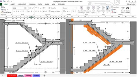 Interior Design Software Free Download spreadsheet presenting rcc dog legged staircase free for