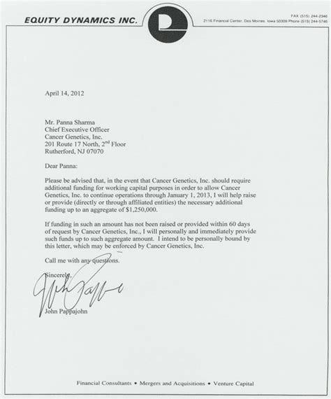 Commitment Letter To Deliver Logo