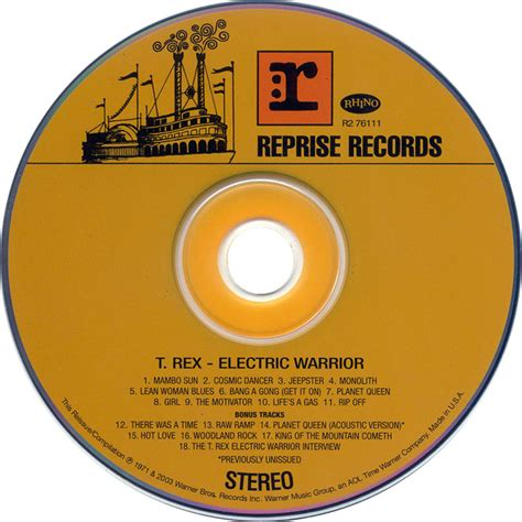 Cd Trex Electric Warrior car 225 tula cd de t rex electric warrior portada