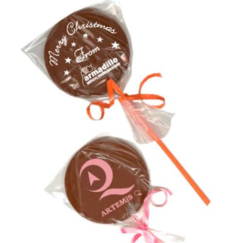 personalised chocolate lollipops customised chocolate
