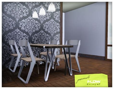 Set Greenflow imaginarium of green flow dining set
