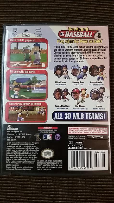 Backyard Baseball Gamecube by Backyard Baseball Missing Manual Nintendo Gamecube Wii