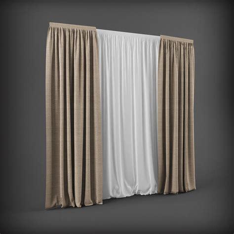 3d curtains curtain 3d model 2 3d model max obj fbx mtl cgtrader com