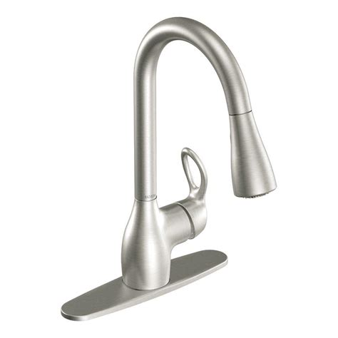 clean kitchen faucet moen kleo single handle pull sprayer kitchen faucet