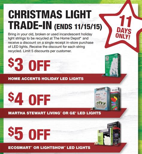 home depot christmas tree light trade in program 2015