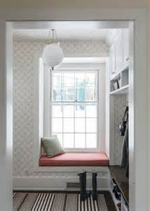 built in window seat mudroom with built in window seat transitional laundry