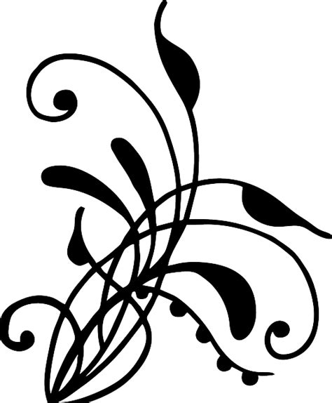Flat Salur free vector graphic henna vines swirl artwork free
