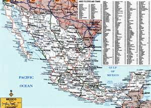 map with cities and roads large detailed roads and highways map of mexico with all