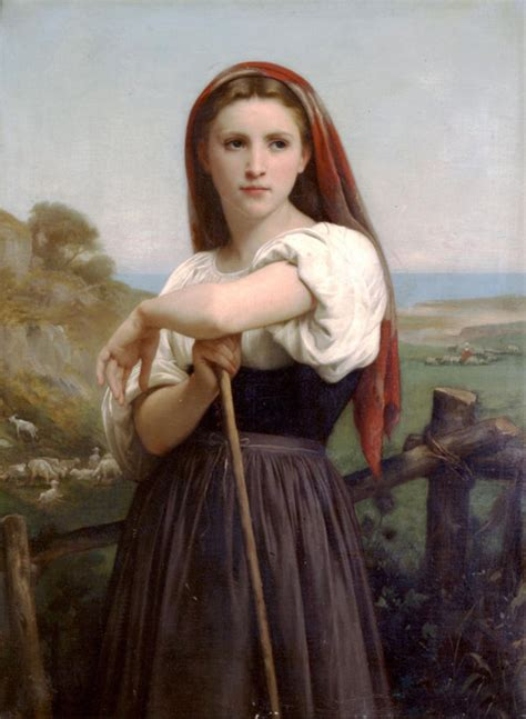william adolphe bouguereau young girl large art oil painting bouguereau portrait young