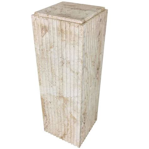 Display Pedestal Dramatic Italian Travertine Display Pedestal For Sale At