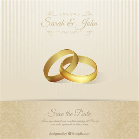wedding invitations freepik wedding invitation card with rings
