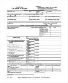 free personal health record template sle health record forms 9 free documents in word pdf