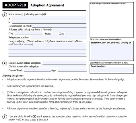 Stepparent Adoption In Los Angeles Ca Childlawhelpcenter Com Child Adoption Agreement Template