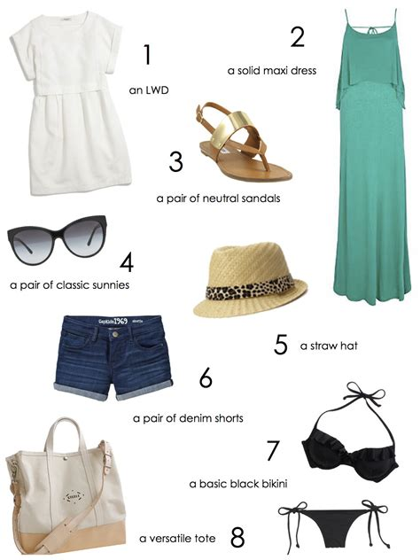 Summer Wardrobe Essentials summer wardrobe essentials