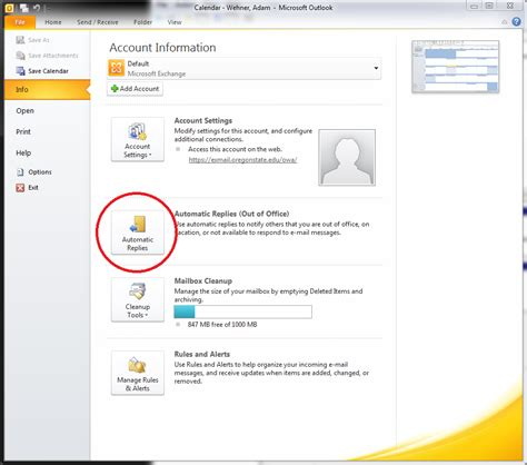 Set Out Of Office In Outlook by Setting Up Quot Out Of Office Quot Reply In Outlook Roots It