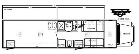 Toterhome Floor Plans by Motorhome W Garage Floor Plans Showhauler Motorhome