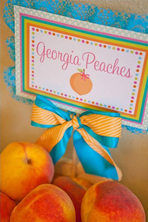 karas party ideas  peach st birthday party fruit