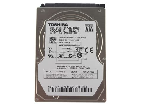 toshiba mkgsx gb  rpm sata hard drive