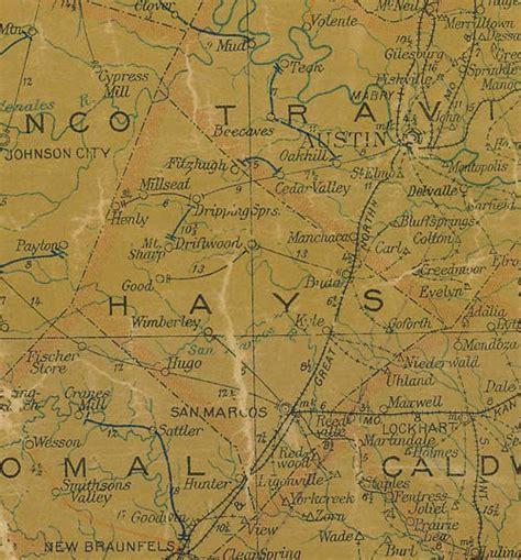 hays county map texas hays county texas