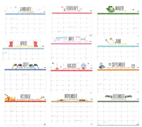 Free Printable 2018 Calendar By Month