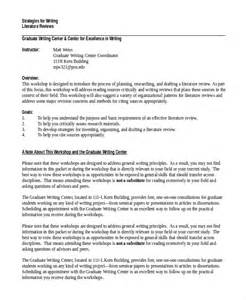 Dissertation Literature Review Outline Dissertation Prospectus Outline