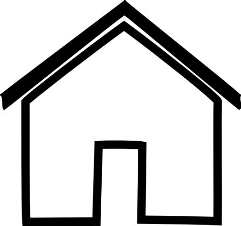 Outlines Of Houses Clipart by Black House Outline Clip At Clker Vector Clip Royalty Free Domain