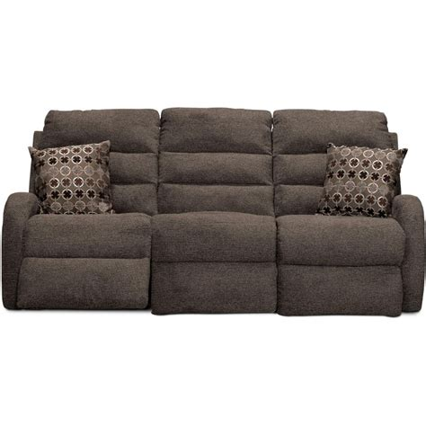 82 quot mink upholstered reclining sofa