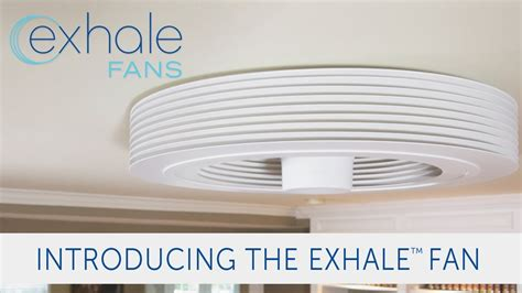 exhale ceiling fan with light exhale fans launches its bladeless ceiling fan on