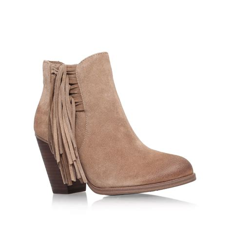 vince camuto harlin ankle boots in brown lyst
