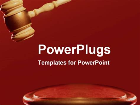 ppt themes law strong red gavel making a decision powerpoint template