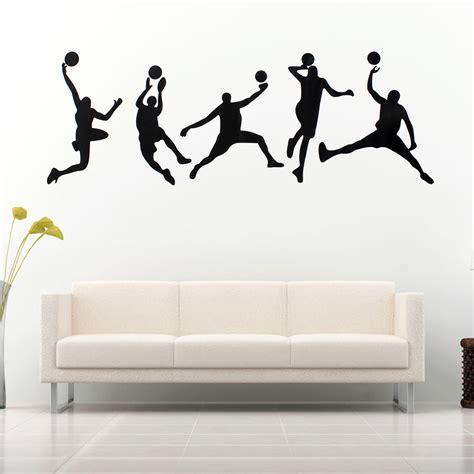 wall sticker 45x126cm basketball wall stickers removable sports