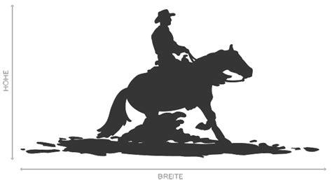 Aufkleber Pferd Silhouette by Wandtattoo Cowboy Pferd Silhouette Schatten Reiter