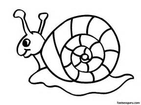 Coloring pages animal snails for kids printable coloring pages for