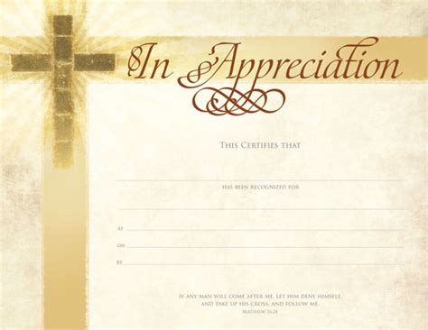 church certificate templates 10 best images of church certificate of appreciation
