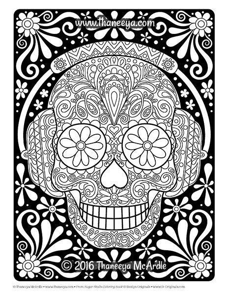 skull coloring book sugar skulls coloring book by thaneeya mcardle https www