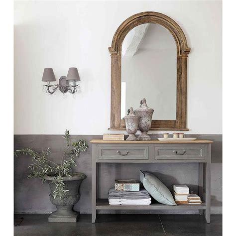 console maison du monde table console en bois grise l cm honorine maisons du monde