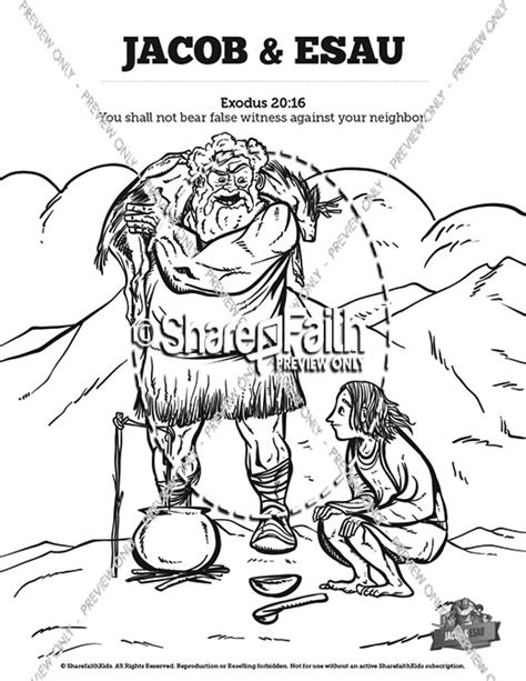 sunday school coloring pages jacob and esau awesome jacob and esau coloring pages images composition