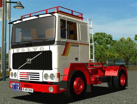 old volvo trucks volvo f1220 ets old truck simulator games mods download