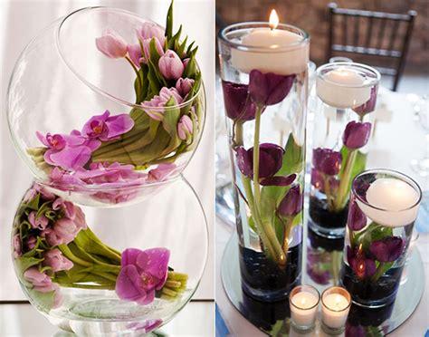 hochzeits tischdekoration blumen ideen f 252 r raffinierte blumendeko hochzeit mit tulpen