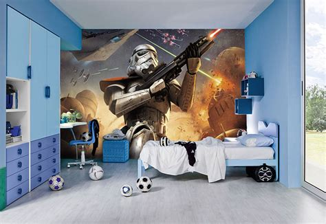 at at bed star wars wall murals