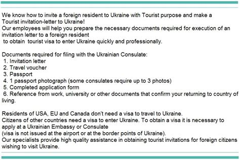 Tourist Support Letter Russia Tourist Invitation Letter To Ukraineinvitation For Visa To Russia And Ukraineall
