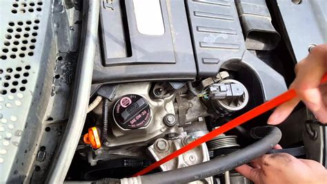 2006 honda civic change diy easy replacing serpentine belt on 2006 2009 honda